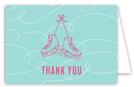 Grab Your Skates Folded Note Card