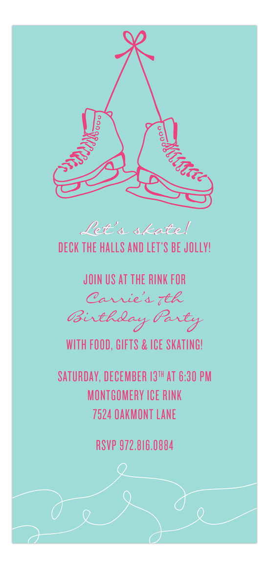 Grab your skates invitation kids winter birthday invitations grab your skates invitation filmwisefo