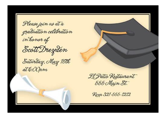 Graduation Day Invitation Polka Dot Design