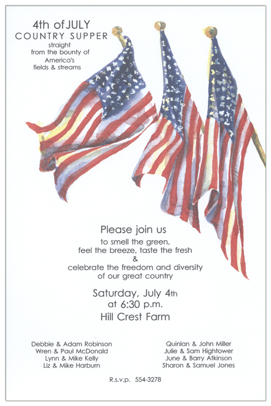 Grand Flags Invitation