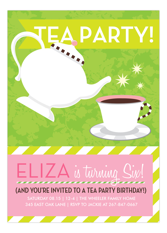 green and pink tea party invitation dmdd np57bd1030dmdd tea