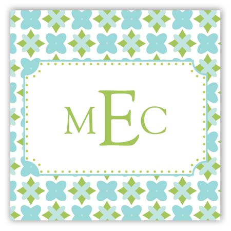 Green Bee Square Sticker
