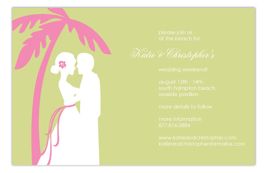 Green Coastal Couple Invitation