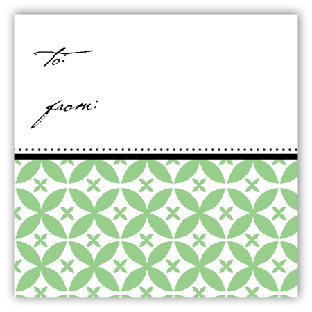 Green Elegance Gift Tag