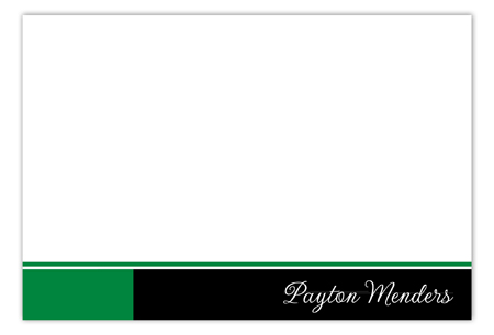 Green Flying Colors Flat Note Card