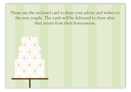 Green Fondant Pattern Enclosure Card