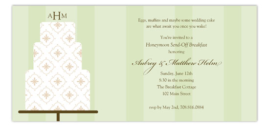 Green Fondant Pattern Invitation
