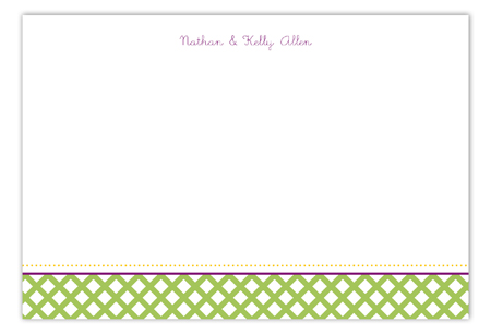 Green Garden Trellis Flat Note Card