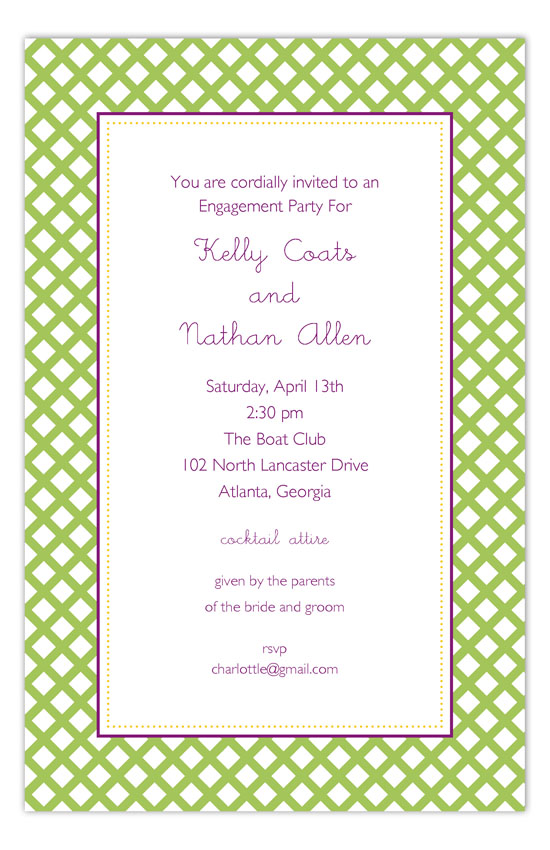 Green Garden Trellis Invitation