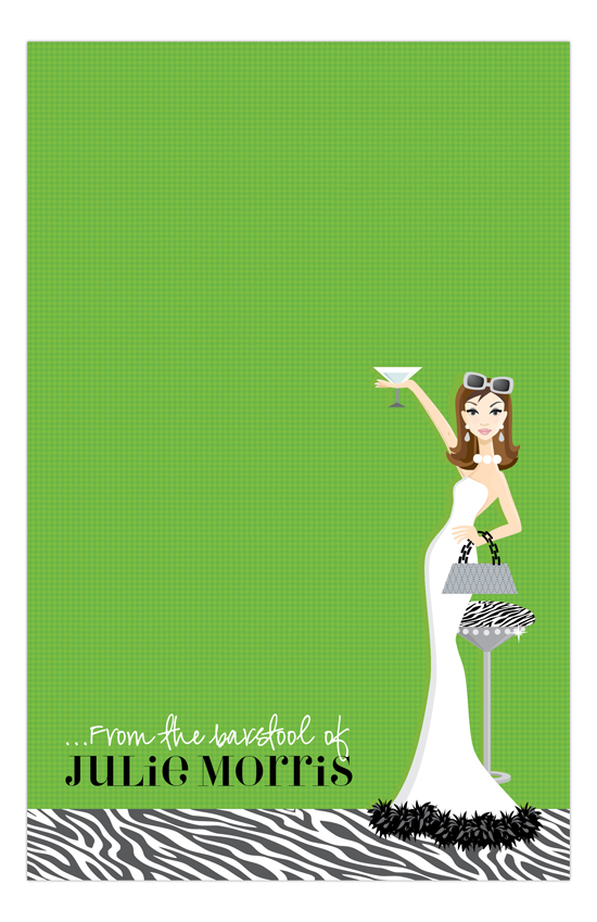 Green Martini Fab Brunette Notepad