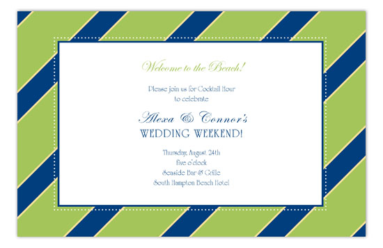 Green Oxford Invitation