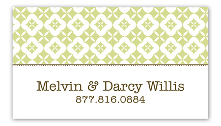 Green Pure Pattern Calling Card