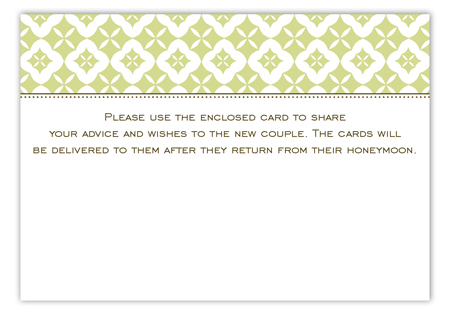 Green Pure Pattern Enclosure Card