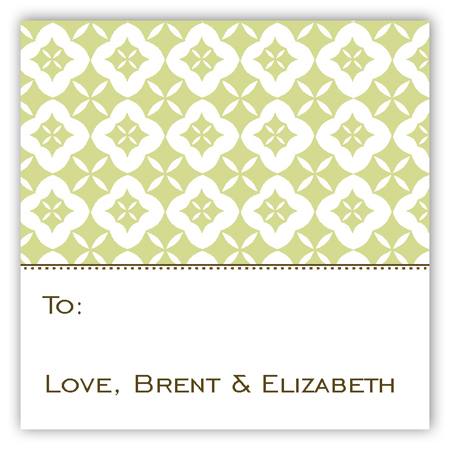 Green Pure Pattern Gift Tag