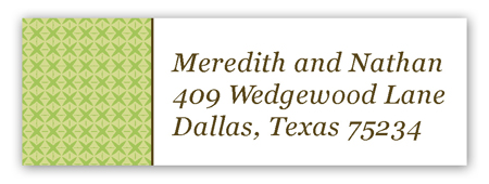Green Sophisticate Address Label
