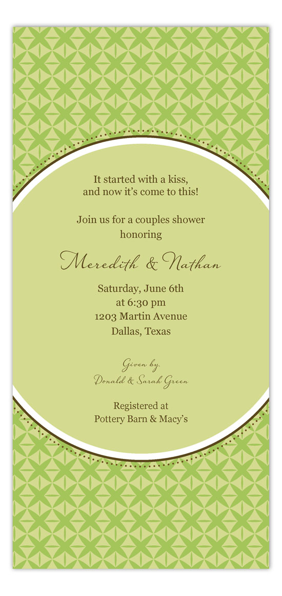 Green Sophisticate Invitation