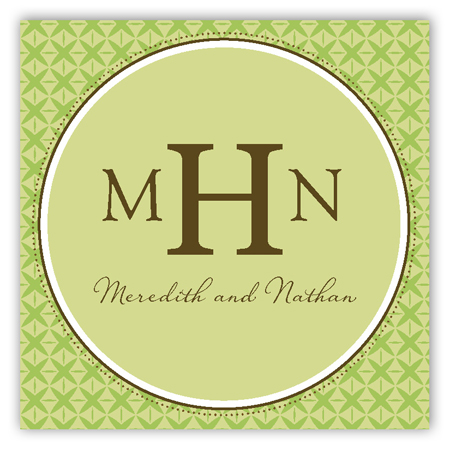 Green Sophisticate Square Sticker