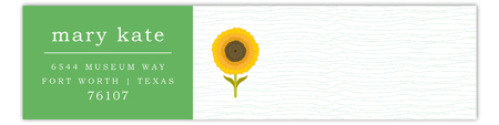 Green Sunny Flower Envelope Wrap Address Label