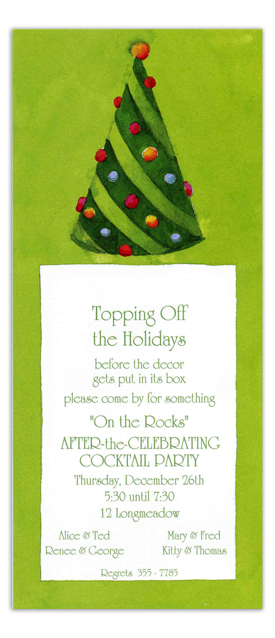 Green Tree Invitation