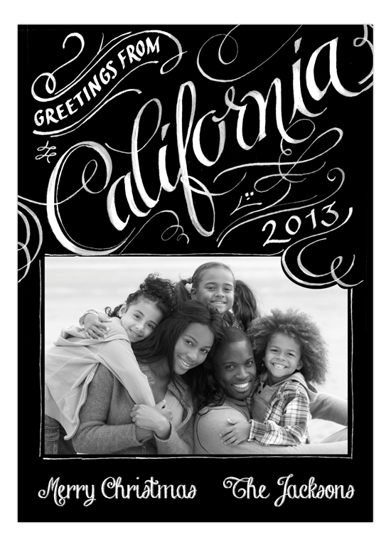 Greetings from California Photo Card