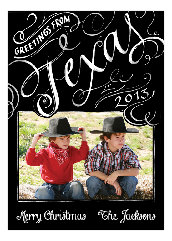 Greetings from Texas Western Family Photo Card