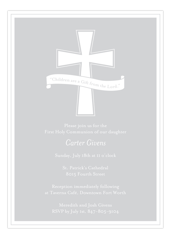 Grey Cross Banner Invitation