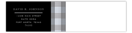 Grey Glen Plaid Envelope Wrap Address Label