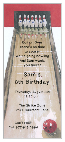 Gutter Ball Invitation
