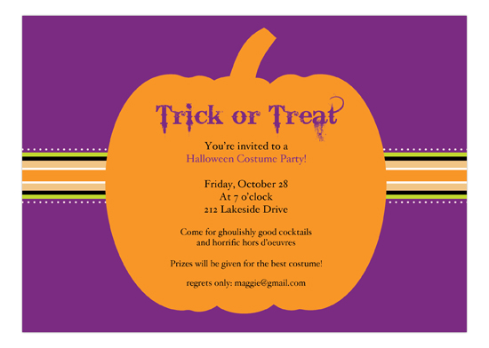 Halloween Banner Invitation