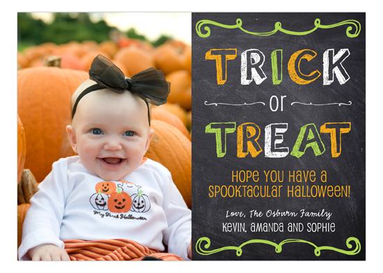 Halloween Chalkboard Photo Card