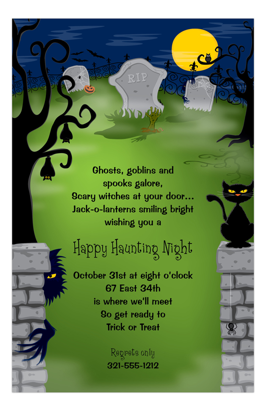 Halloween Haunting Invitation