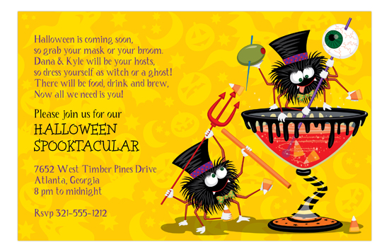 Halloween Mixology Invitation