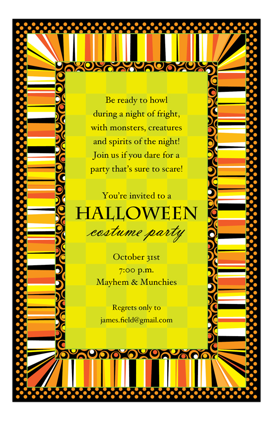 Halloween Pattern Invitation