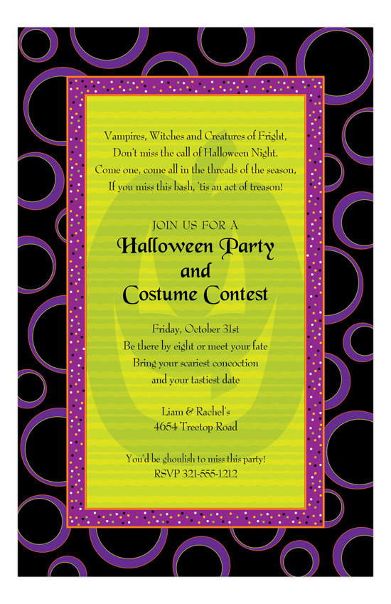 Halloween Pumpkin Invitation