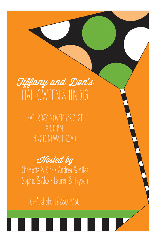 Halloween Shake It Up Invitation