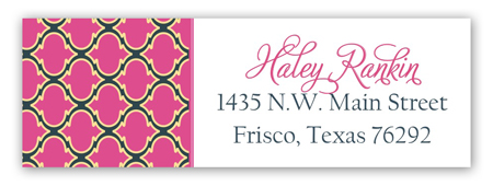 Happy Bday Pink Patterns Address Label