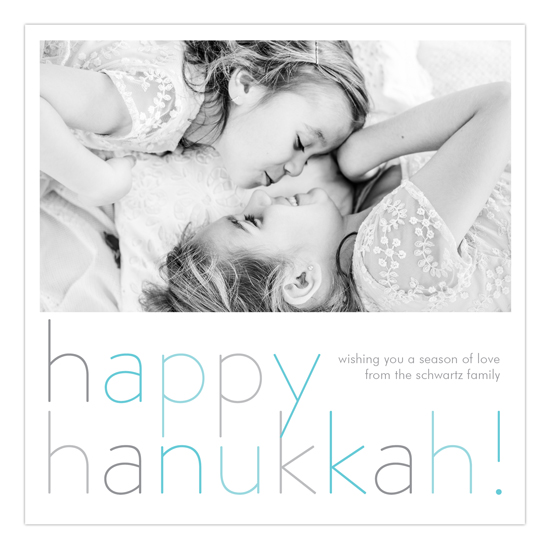 Happy Hanukkah Square Photo Card