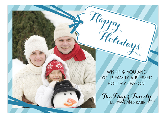 Happy Holidays Tag Photo Card