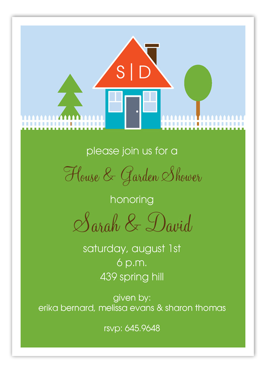 Happy Home Garden Shower Invitation