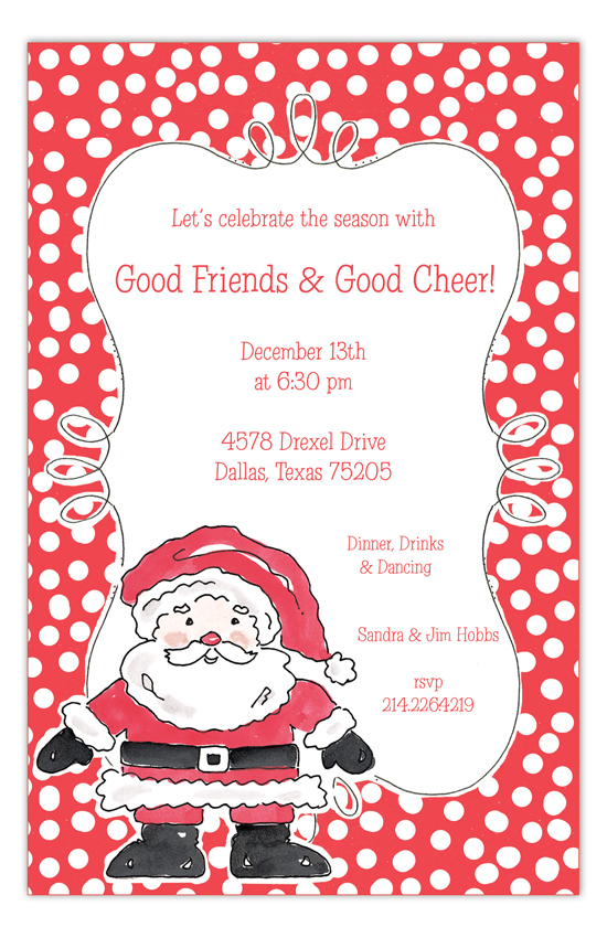 Happy Santa Invitation