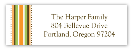 Harvest Banner Address Label