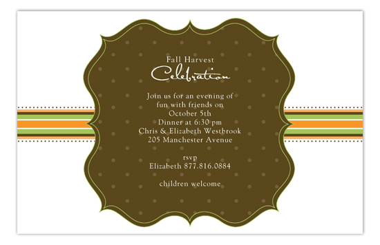 Harvest Banner Invitation