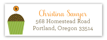 Harvest Cupcake Address Label