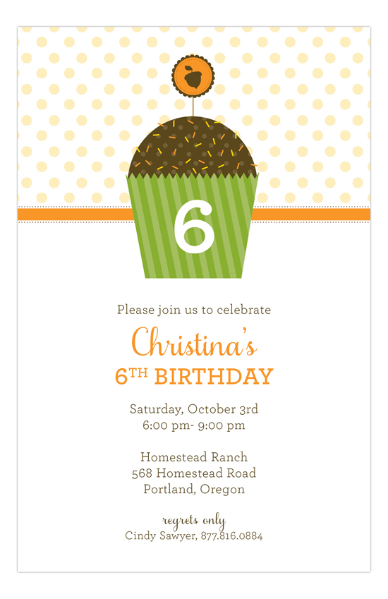 Harvest Cupcake Invitation