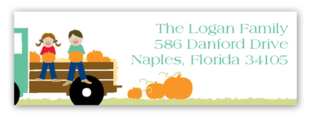 Harvest Hayride Address Label