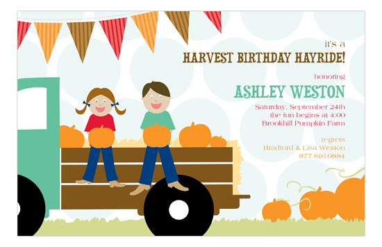 Harvest Hayride Invitation
