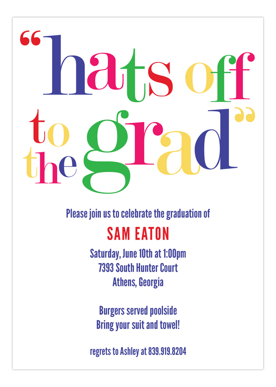 Hats off to the Grad Invitation