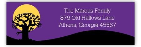 Haunted House Halloween Return Address Labels