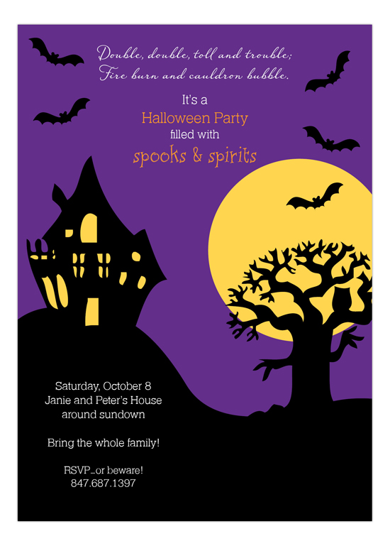 Haunted House Spooks and Spirits Invitation