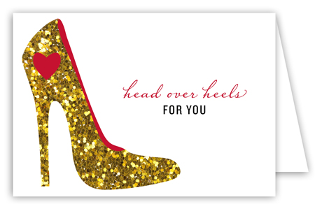 Head Over Heels Folded Valentine Card